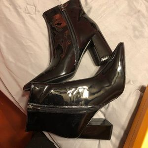 Public Desire Patent Leather Boots